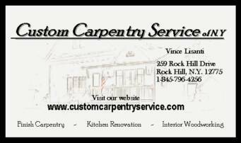 Custom Carpentry Service of NY